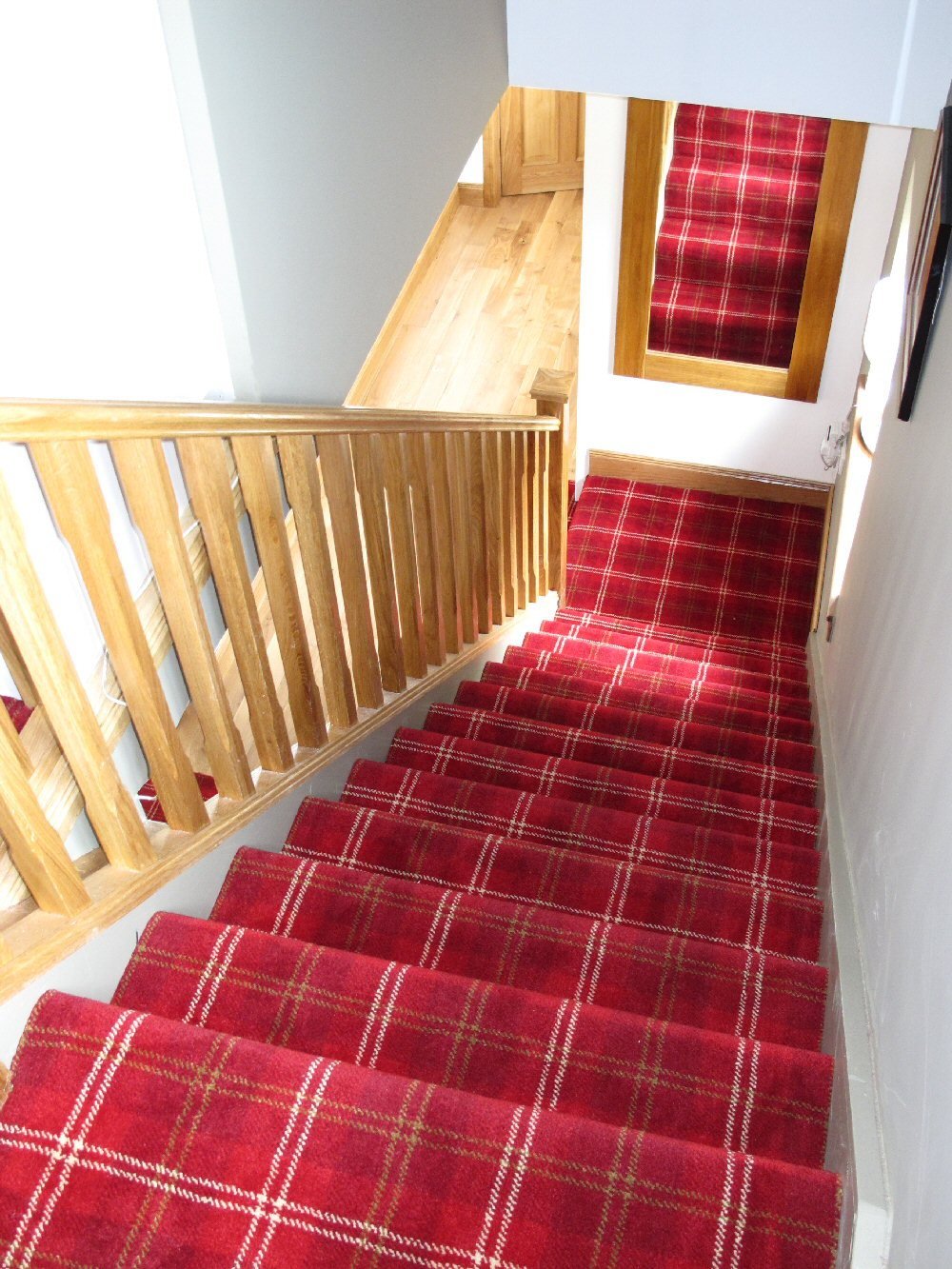 Photograph of domestic tartan carpet